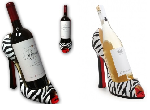Zebra Shoe Wine Holders